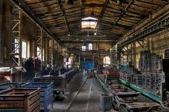 Fabrikhalle Stockbild