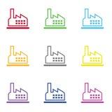 Fabrikikone für Netz und Mobile Lizenzfreie Stockbilder