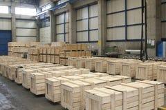 Fabriklager stockbilder