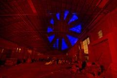 Fabriknachtzusammensetzung Stockbilder