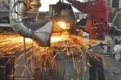 Fabrikpolierwerkstatt lizenzfreies stockbild