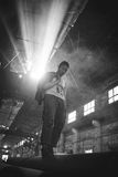 Fabrikporträt Stockfotografie