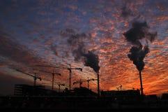 Fabrikrauch Lizenzfreies Stockfoto