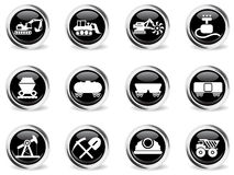 Fabriks- och branschsymboler Fotografering för Bildbyråer