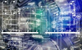 Fabriks- teknikteknologi Arkivbild