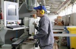 fabriksarbetare Fotografering för Bildbyråer
