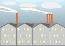 Fabriksbyggnaden Arkivbild
