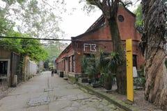 Fabriksbyggnaden i den redtory idérika trädgården, guangzhou, porslin Royaltyfri Foto