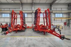 Fabriksenheten shoppar Tillverkning av jordbruks- maskineri royaltyfri foto