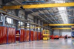Fabriksenheten shoppar Tillverkning av jordbruks- maskineri arkivbilder