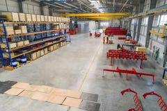 Fabriksenheten shoppar Tillverkning av jordbruks- maskineri royaltyfri bild