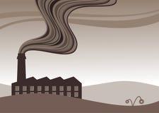 fabriksförorening royaltyfri illustrationer