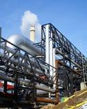 fabriksindustri pipelines stål Royaltyfria Bilder