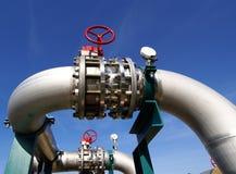fabriksindustri pipelines stål Fotografering för Bildbyråer
