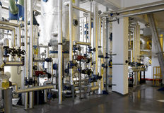 Fabriksinterior royaltyfri fotografi