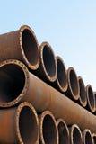 fabriksjärn pipes stålrör Royaltyfria Foton
