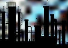 Fabrikskonturer vektor illustrationer