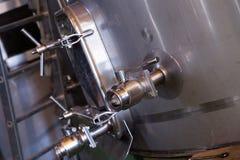 Fabriksmaskinericloseup Arkivbilder