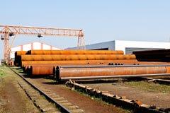 fabriksmetallrør Arkivbild