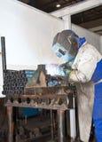 fabrikssvetsningsarbetare Royaltyfria Foton