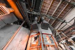 Fabrikstillverkning av glass produktion Fotografering för Bildbyråer