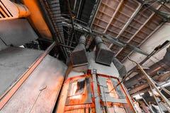 Fabrikstillverkning av glass produktion Arkivbild