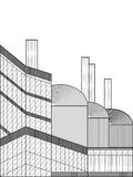 Fabrikvektorillustration lizenzfreie abbildung