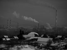 Fabrikverschmutzung Lizenzfreies Stockbild
