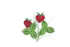 Fabriqué à la main de la technique quilling de papier Jour du `s de Valentine Escroquerie d'amour Photos stock