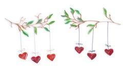 Fabriqué à la main de la technique quilling de papier Jour du `s de Valentine Escroquerie d'amour Photo libre de droits