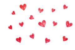 Fabriqué à la main de la technique quilling de papier Le jour de Valentine Photos libres de droits