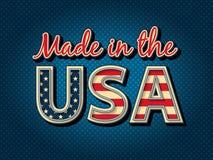 Fabriqué aux Etats-Unis Images stock