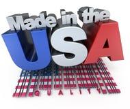 Fabriqué aux Etats-Unis Photos stock