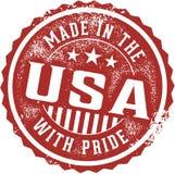 Fabriqué aux Etats-Unis avec Pride Emblem Photo libre de droits
