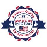 Fabriqué aux Etats-Unis, qualité de la meilleure qualité, parce que nous nous inquiétons Image libre de droits