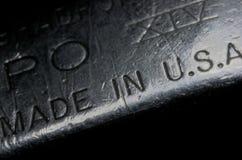Fabriqué aux Etats-Unis S a , vieil allumeur métallique Photographie stock