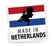 Fabriqué aux Pays-Bas avec le drapeau Images libres de droits