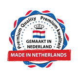 Fabriqué aux Pays-Bas, timbre de la meilleure qualité de qualité Images libres de droits