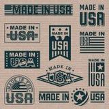 Fabriqué en Amérique (Etats-Unis) illustration de vecteur