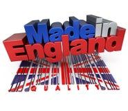 Fabriqué en Angleterre, qualité Images stock