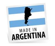 Fabriqué en Argentine avec le drapeau et la carte Photographie stock