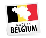 Fabriqué en Belgique avec le drapeau Photos stock