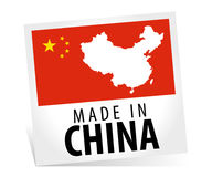 Fabriqué en Chine avec le drapeau Image stock