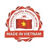 Fabriqué au Vietnam, timbre de la meilleure qualité de qualité pour la copie Images stock