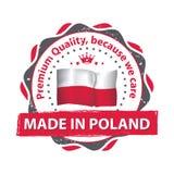 Fabriqué en Pologne, timbre de la meilleure qualité de qualité pour la copie Image libre de droits