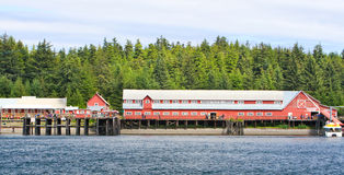 Fabrique de conserves historique de point glacial de détroit de l'Alaska Image libre de droits