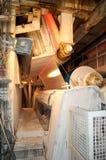 Fabrique de pâte à papier de papier et Photographie stock libre de droits