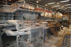 Fabrique de pâte à papier de papier et - De-tracé des centrales photographie stock libre de droits