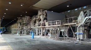 Fabrique de pâte à papier de papier et - machine de papier de Fourdrinier images stock