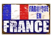 Fabrique En France Enamel Sign Stock Photography